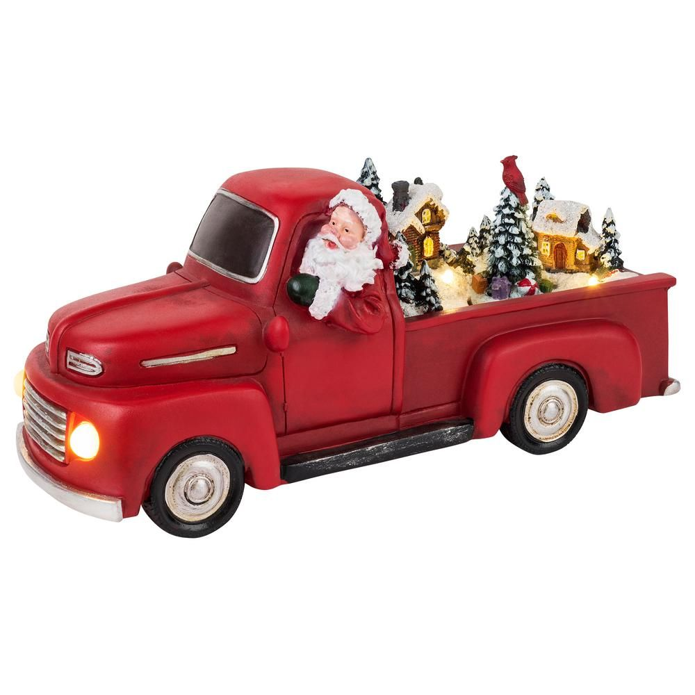 Mr Christmas 5 In H X 11 1 In W Tall Animated Red Truck Mr