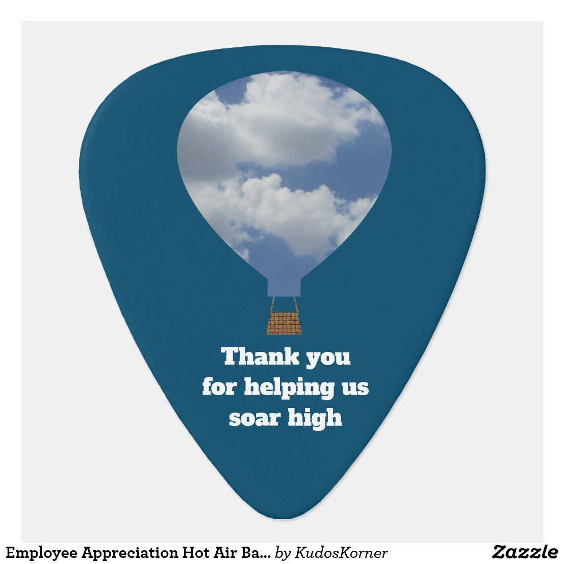 Employee Appreciation Hot Air Balloon Thank You Guitar Pick | Zazzle.com