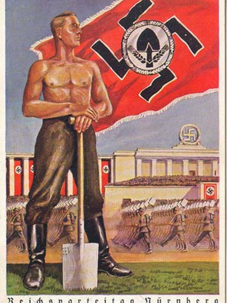 nazi propaganda pamphlet Miniature nazi propaganda booklet featuring scenes of hitler visiting the military, including wounded troops, and other public appearances between 1932 and 1937.