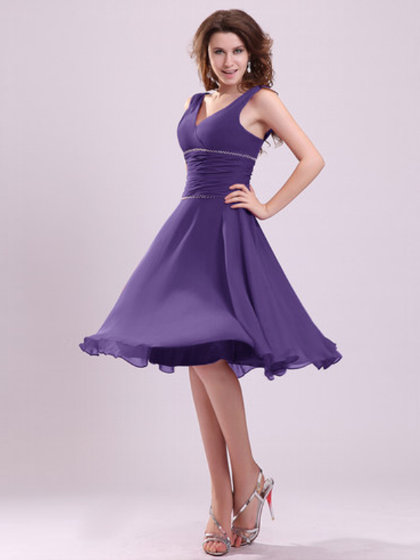 Casual Short Purple Wedding Dresses | WEDDING PLANS | Pinterest