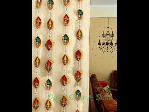 Diwali Craft Idea -Wall hanging - YouTube | peçete rulosu ...