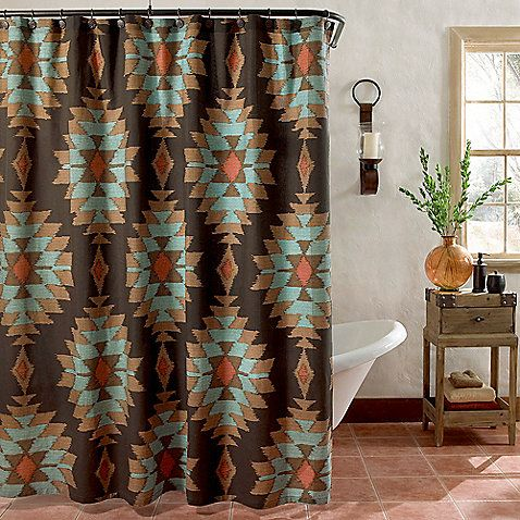 Superieur ... Southwest Feeling To Your Bathroomu0027s Décor With The Suba Shower  Curtain. It Has A Classic, Yet Modern Southwestern Design Reminiscent Of Native  American ...