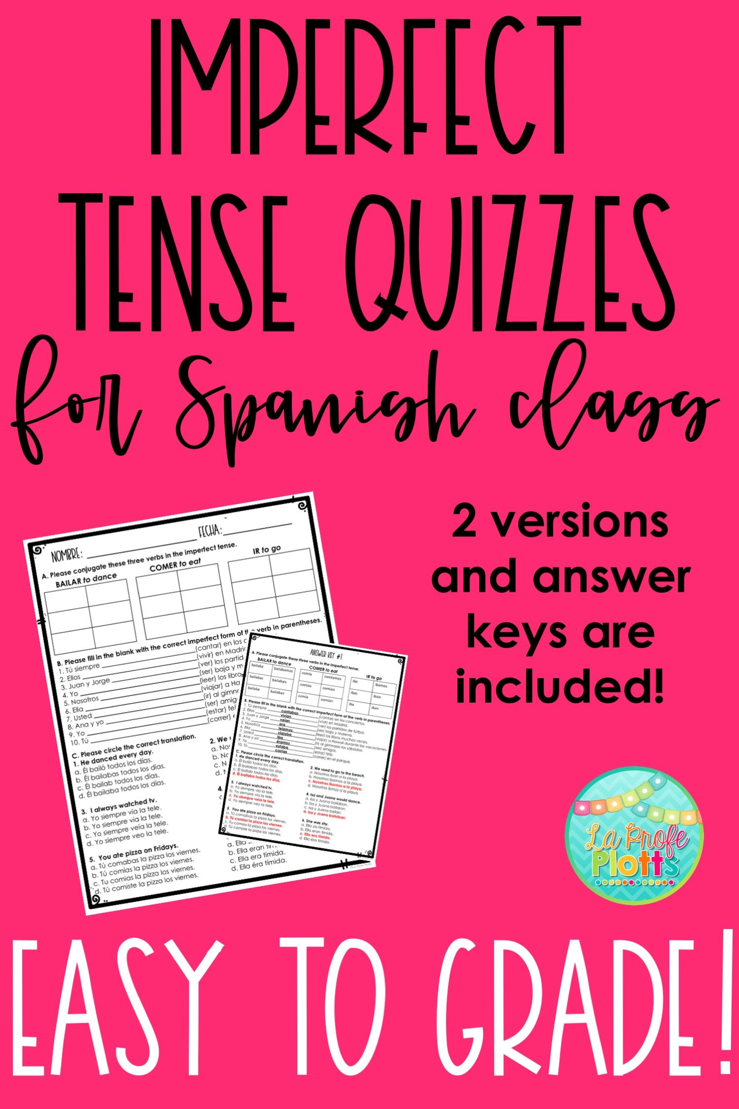 Imperfect Tense Quiz Or Worksheet