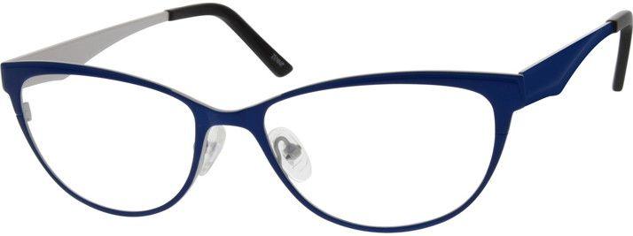 4c82bb2c134 Women s Blue 6968 Stainless Steel Full Rim Frame