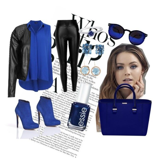 """Blue & Black"" by seshiiiii1212 ❤ liked on Polyvore featuring Zizzi, River Island, Nicholas Kirkwood, Essie, BERRICLE and Larkspur & Hawk"