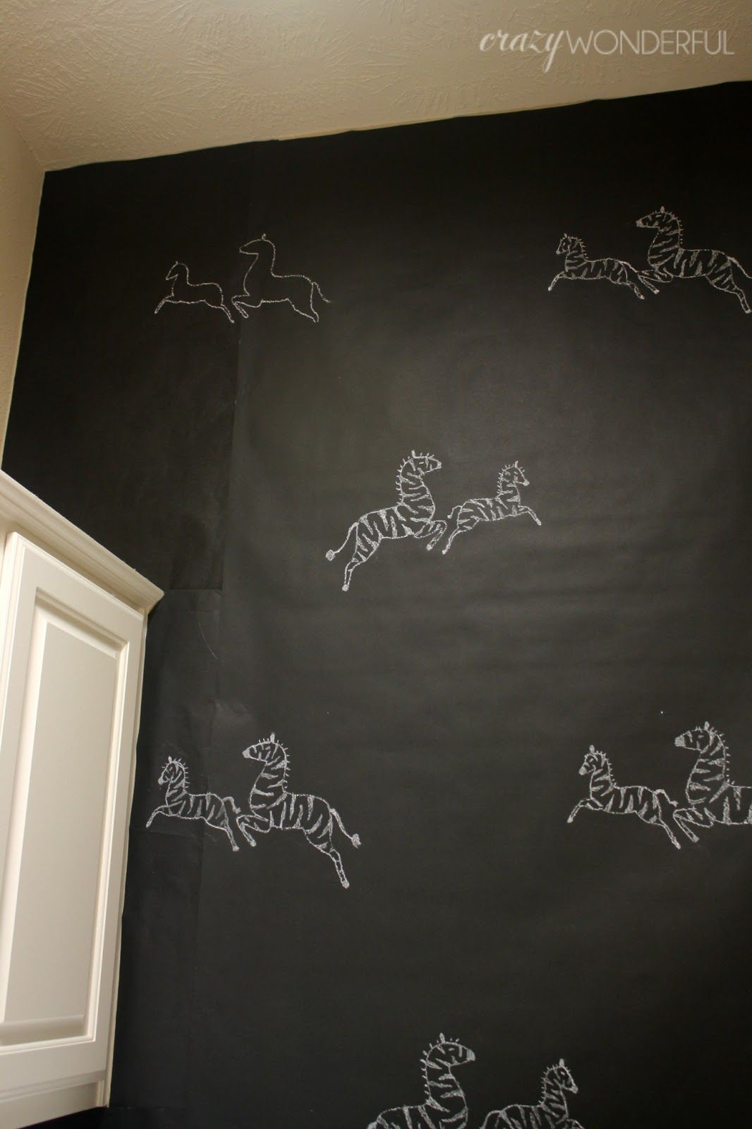 Diy temporary wallpaper with butcher paper and command