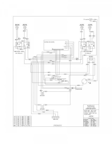 17 frigidaire electric range wiring diagramfrigidaire