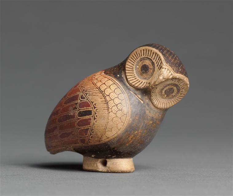 640 BC Greek Aryballe shape of Owl - Louvre, Paris