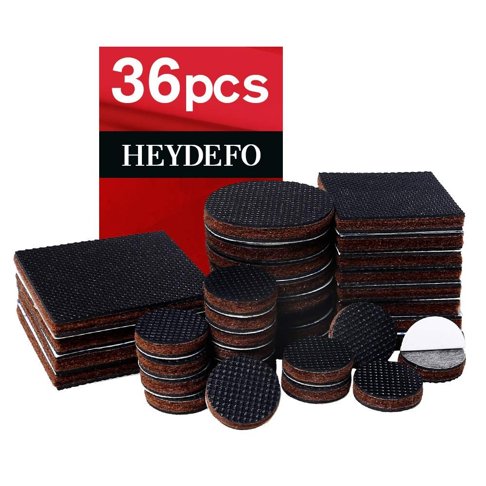 Non Slip Rubber Furniture Pads 36 Pieces Anti Skid Furniture Pads Stopper Self Adhesive Square Round Felt P Skid Furniture Furniture Pads Rubber Furniture Pads