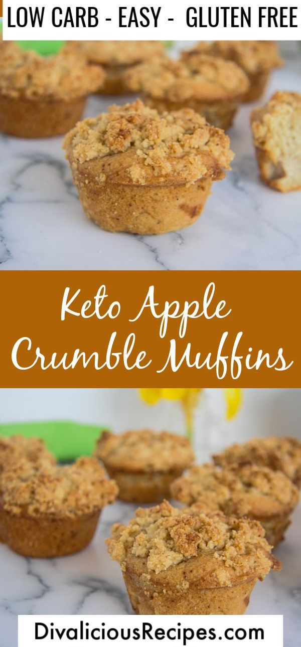 """Low Carb """"Apple"""" Crumble Muffins"""