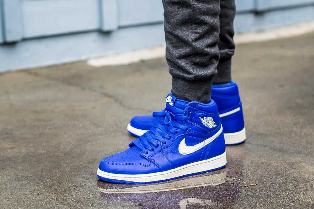 Air Jordan 1 Hyper Royal On Feet Sneaker Review With Images