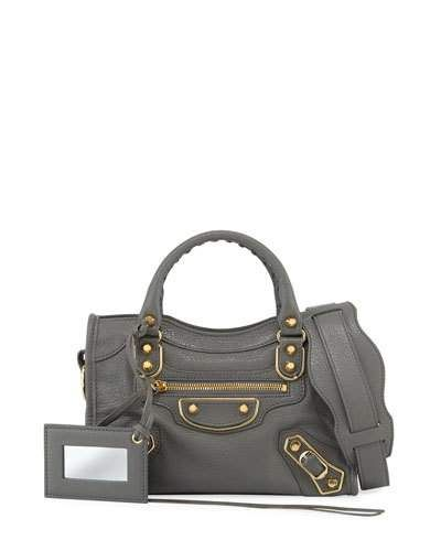 47416abec4 Metallic Edge City Mini Bag Medium Gray in 2019 | *Handbags ...