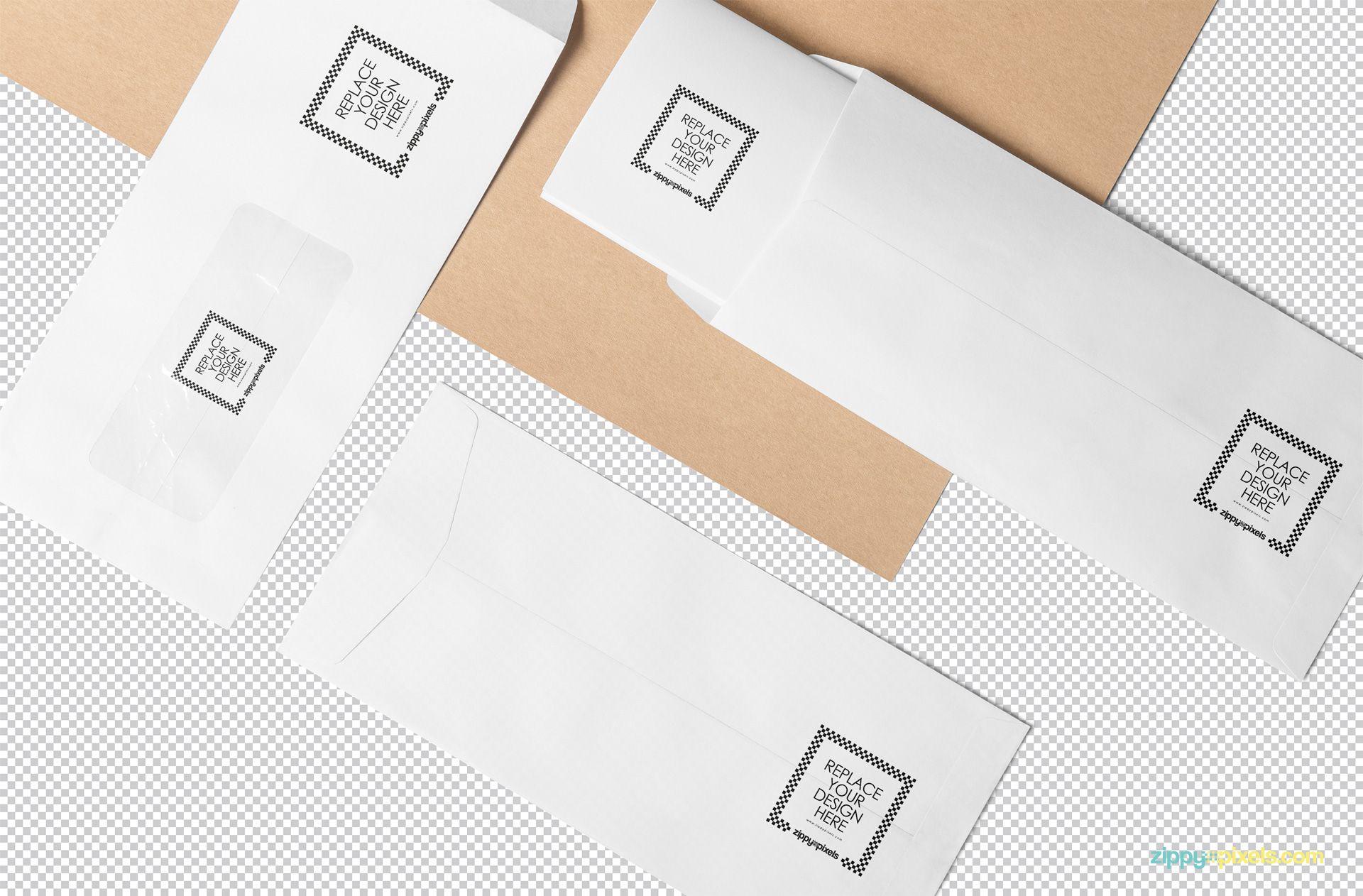 Envelope Mockup PSD Free | ZippyPixels