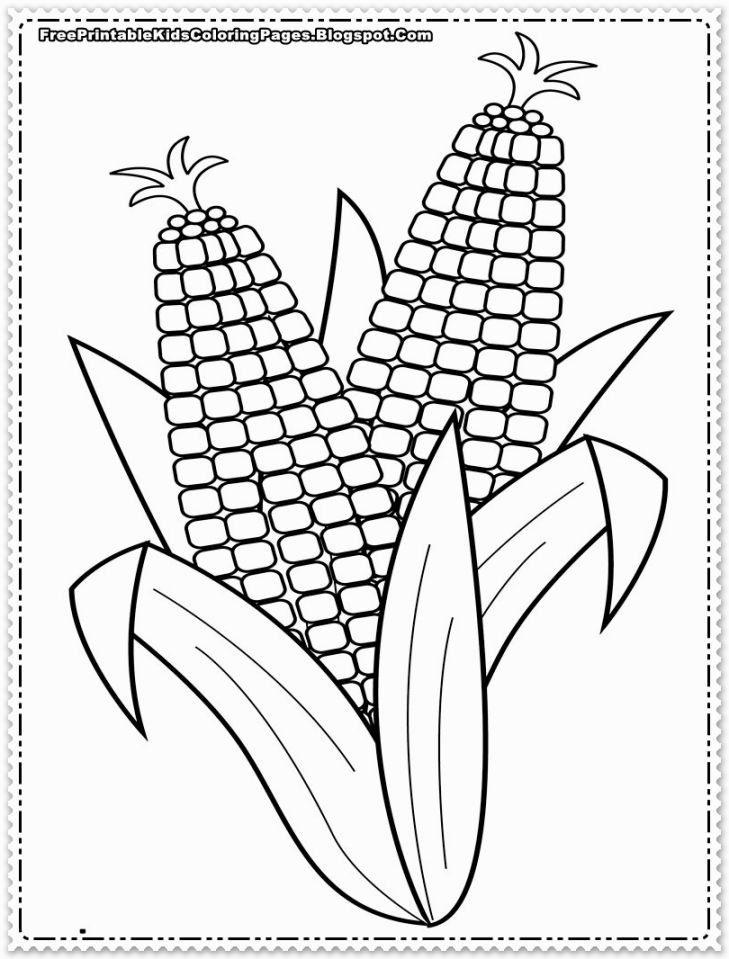 Corn Coloring Sheets Coloring Pages Valentines Day Coloring Page Ears Of Corn