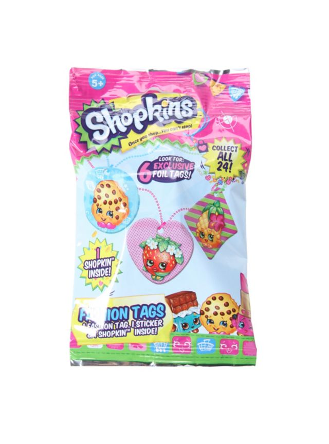 Blind bag includes: 1 fashion tag, 1 sticker & 1 shopkin. Which ones will you get? It's a surprise!Sorry, no choice or returns.