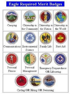 picture relating to Printable List of Merit Badges called How do Scouts receive Benefit Badges? (and which are necessary