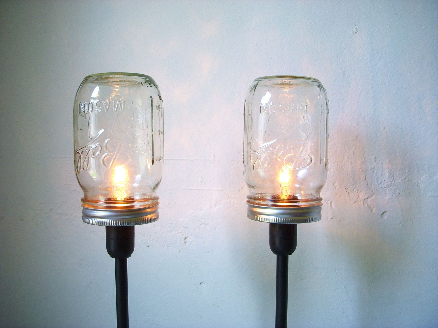 etsy industrial lighting. 2 mason jar table lamps upcycled lighting fixtures lights industrial modern etsy a