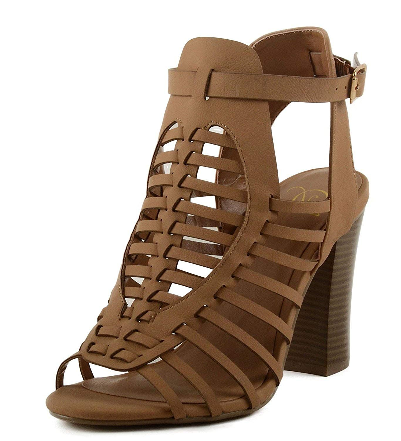 2a12a4dc92f Delicious Women s Cutout Buckle Stacked Chunky Heel Bootie. This ankle  bootie from Delicious features an