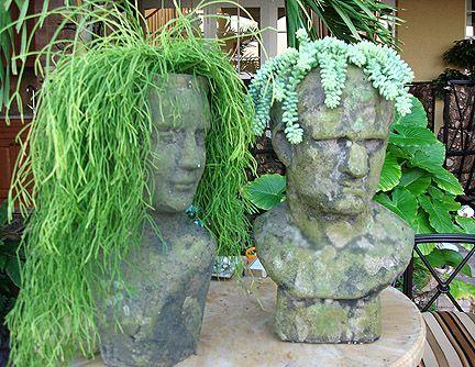 Attractive A Small Hearts Desire: Update On Stone Head Planters