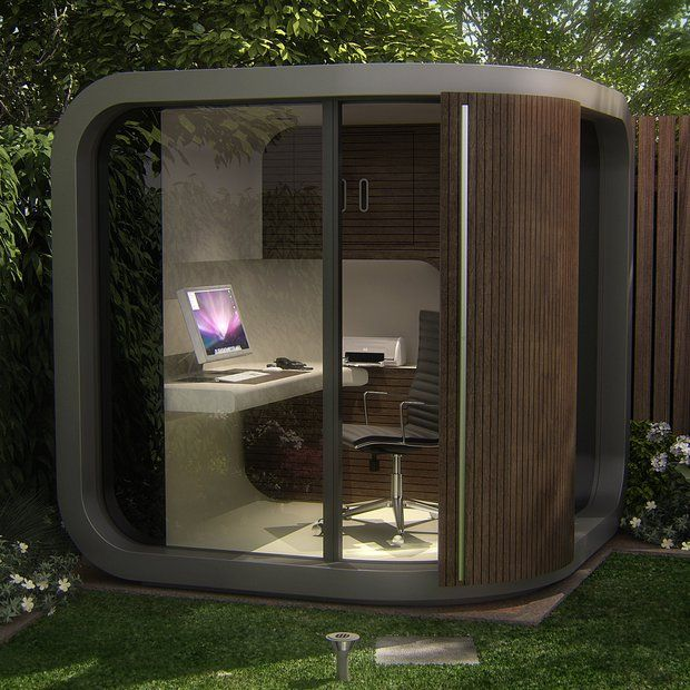 curved garden room pod modern outside home office shed