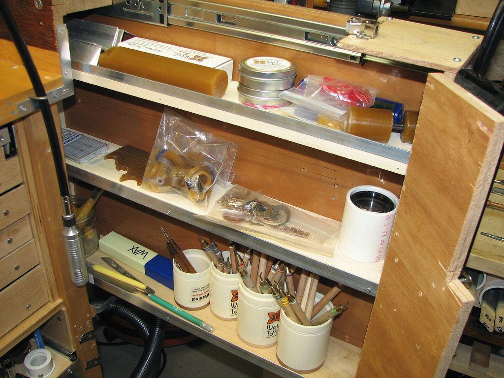 Waxdrawer2 Jewellers Bench Liquor Cabinet Decor
