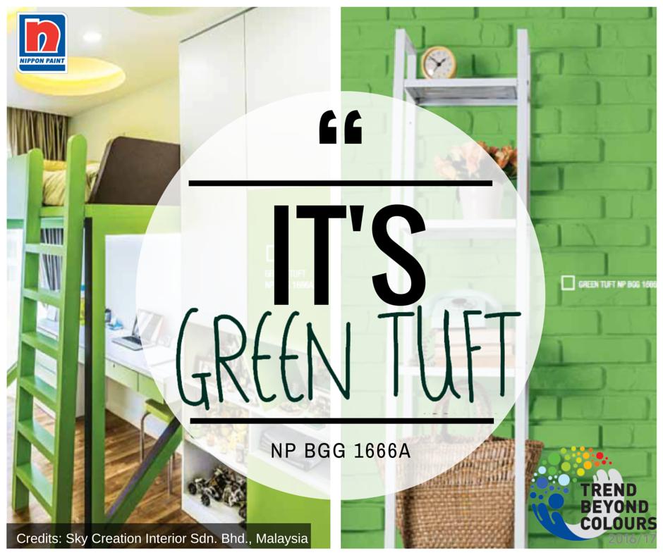 Green Tuft Np Bgg 1666a Adalah Warna Yang Santai Yang Dapat Mencerminkan Kepribadian Unik Rumah Anda Dapat Digunakan Di Hampir Semua Ruang Untuk Memberi Ruangan