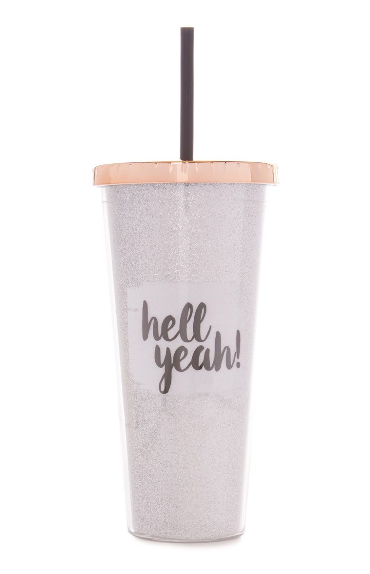 Glitter Hell Yeah Cup