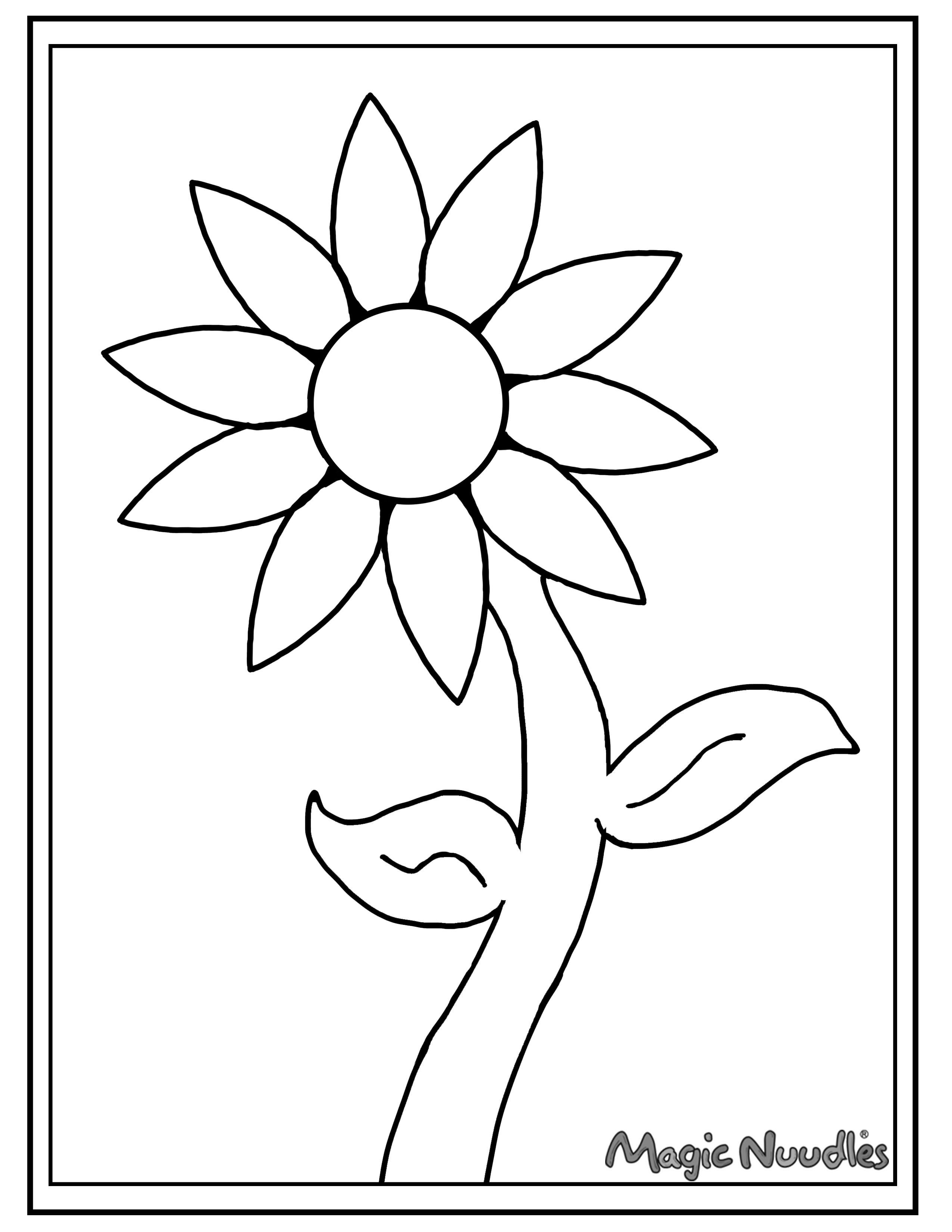 Use magic nuudles to help decorate this coloring page spring