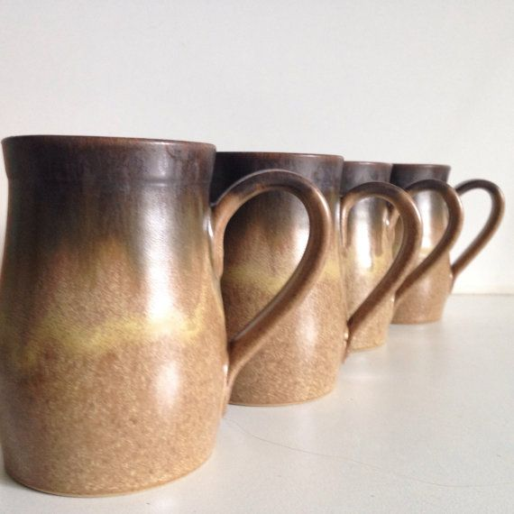 Vintage Denby Romany Brown Tall Mugs by 4EnvisioningVintage & Vintage Denby Romany Brown Tall Mugs by 4EnvisioningVintage   The ...