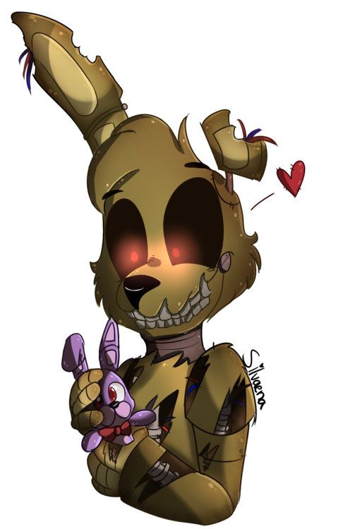 aww springtrap can make the cutest faces five nights at freddy s