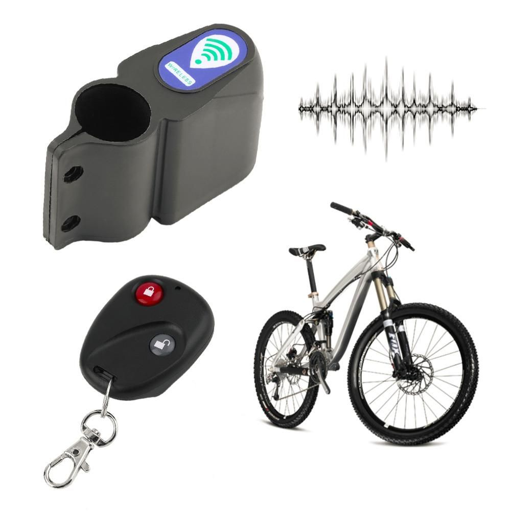 Vélo Alarme Système Alarme Serrure Antivol Protection 110db avec télécommande