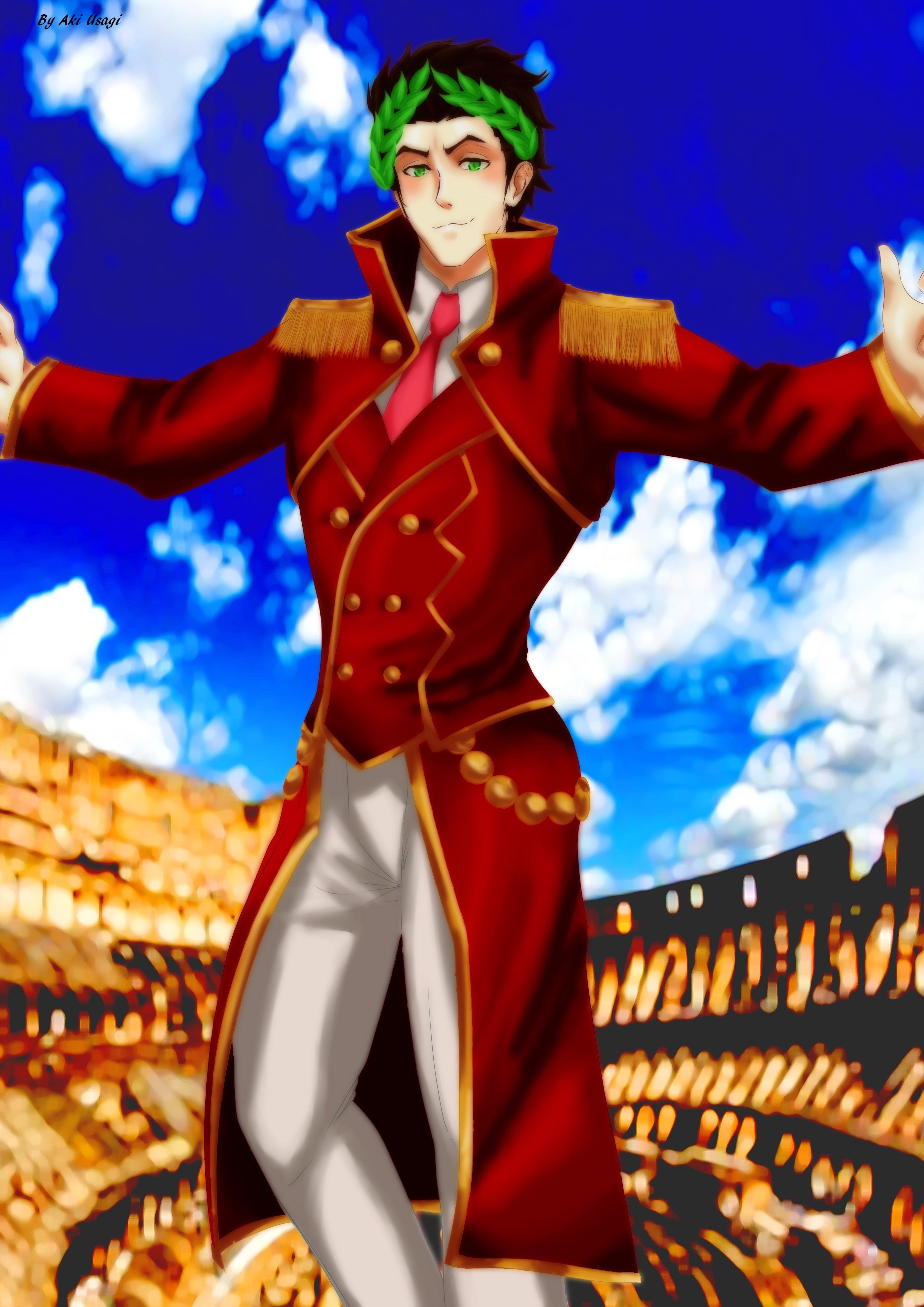 Fate Grand Order Saber Julius Caesar fan art Vik, Fan