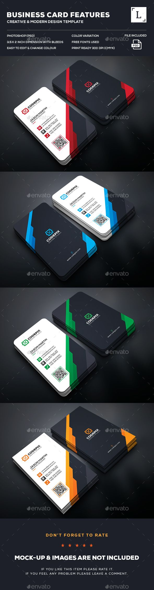 Creative Business Card Template Psd Download Here Http Graphicriver Net Item Creative Busi Business Cards Creative Business Card Design Business Card Maker