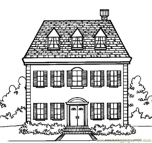 Printable Doll House Coloring Page Coloring Pages Cottage Home Architecture Houses Fr House Colouring Pages Free Coloring Pages Coloring Pages For Kids