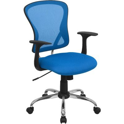 FlashFurniture Mid-Back Mesh Office Chair with Chrome Base $88