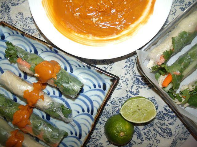 Coconut and Ginger Chicken Fresh spring Rolls. Chicken spring rolls-Aussie style