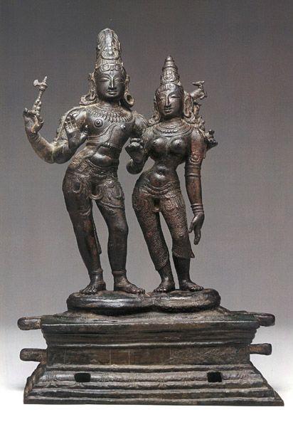 Shiva and Uma India (Tamil Nadu) late 13th century Bronze 17 in ...