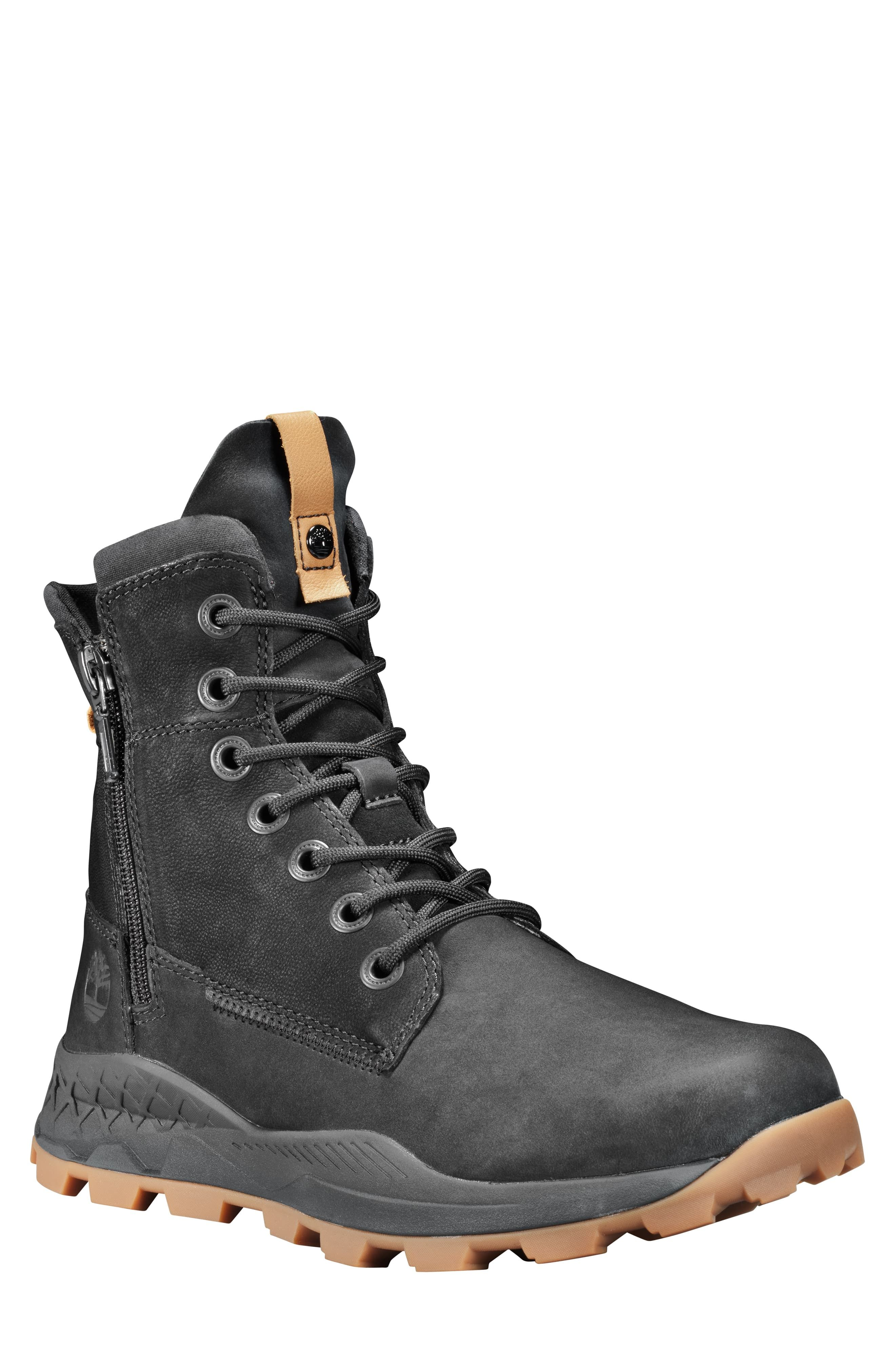 TImberland Men's Hommes Black Yellow Size UK 8.5 Shoes Sneakers Boots