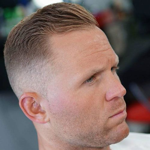 Hairstyles For Balding Men Mesmerizing Hairstyles For Balding Men  Bald Man High Fade And Side Swept