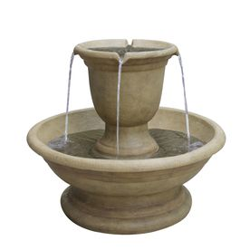 Garden Treasures Fountain 2 Tier Outdoor Fountain With Pump. Lowes.