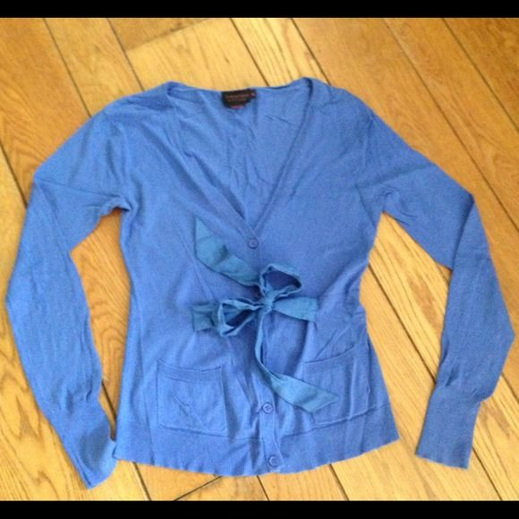 Periwinkle blue sweater with tie in front | Periwinkle blue and ...