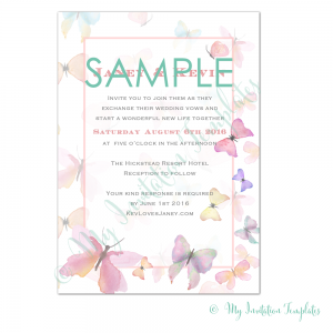 butterfly invitation template 5x7 a4 free sample upendo kwaya