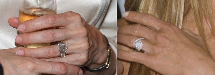 Engagement Ring Face Off Angelina Jolie Vs Jennifer Aniston Who Scored The Better Engagement Ring From Brad Pitt Engagement Rings Best Engagement Rings Engagement