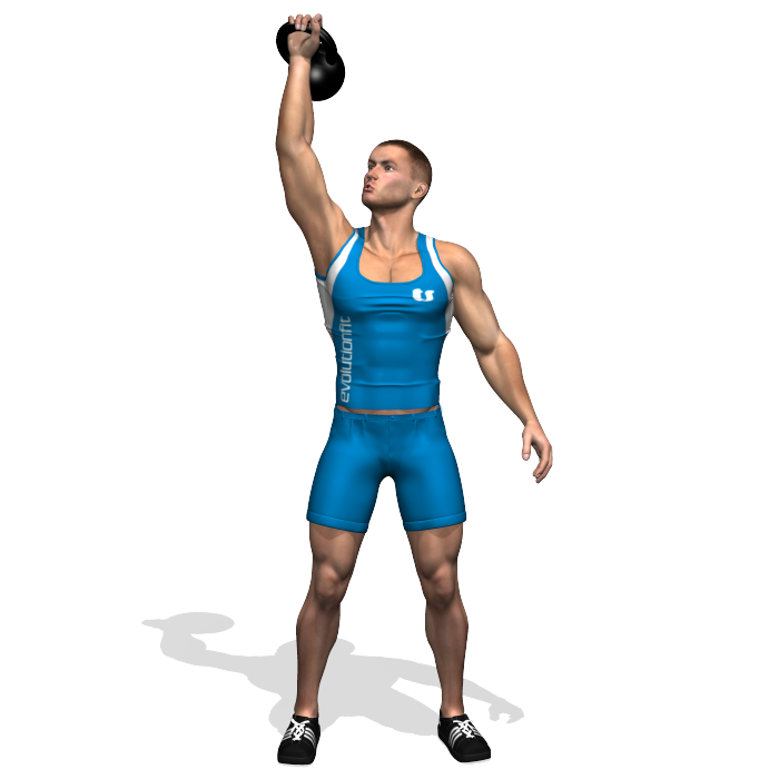 Exercise Kettlebell Overhead Windmill Modified: WINDMILL KETTLEBELL INVOLVED MUSCLES DURING THE TRAINING