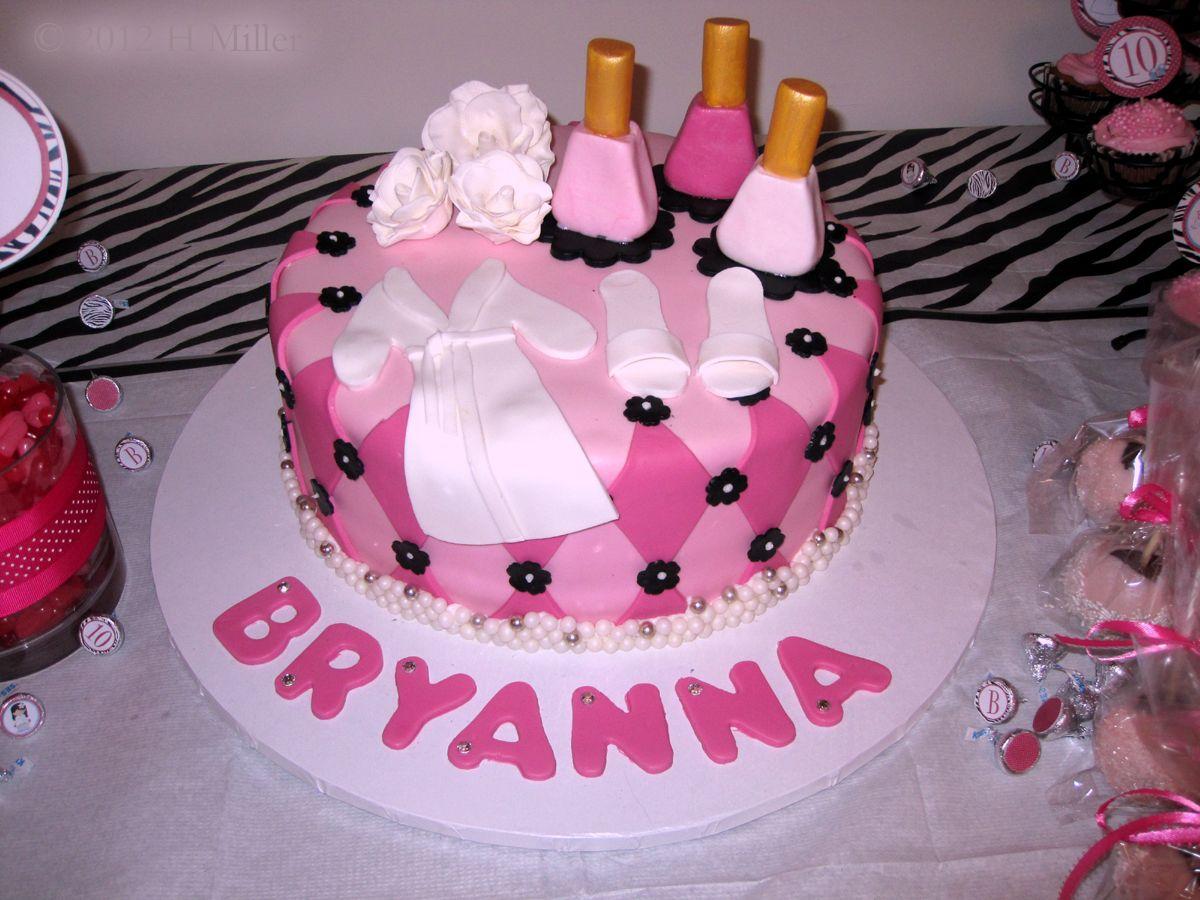 SpaBirthdayCakejpg  Adorable Spa Party Cake Made - Spa birthday party cake
