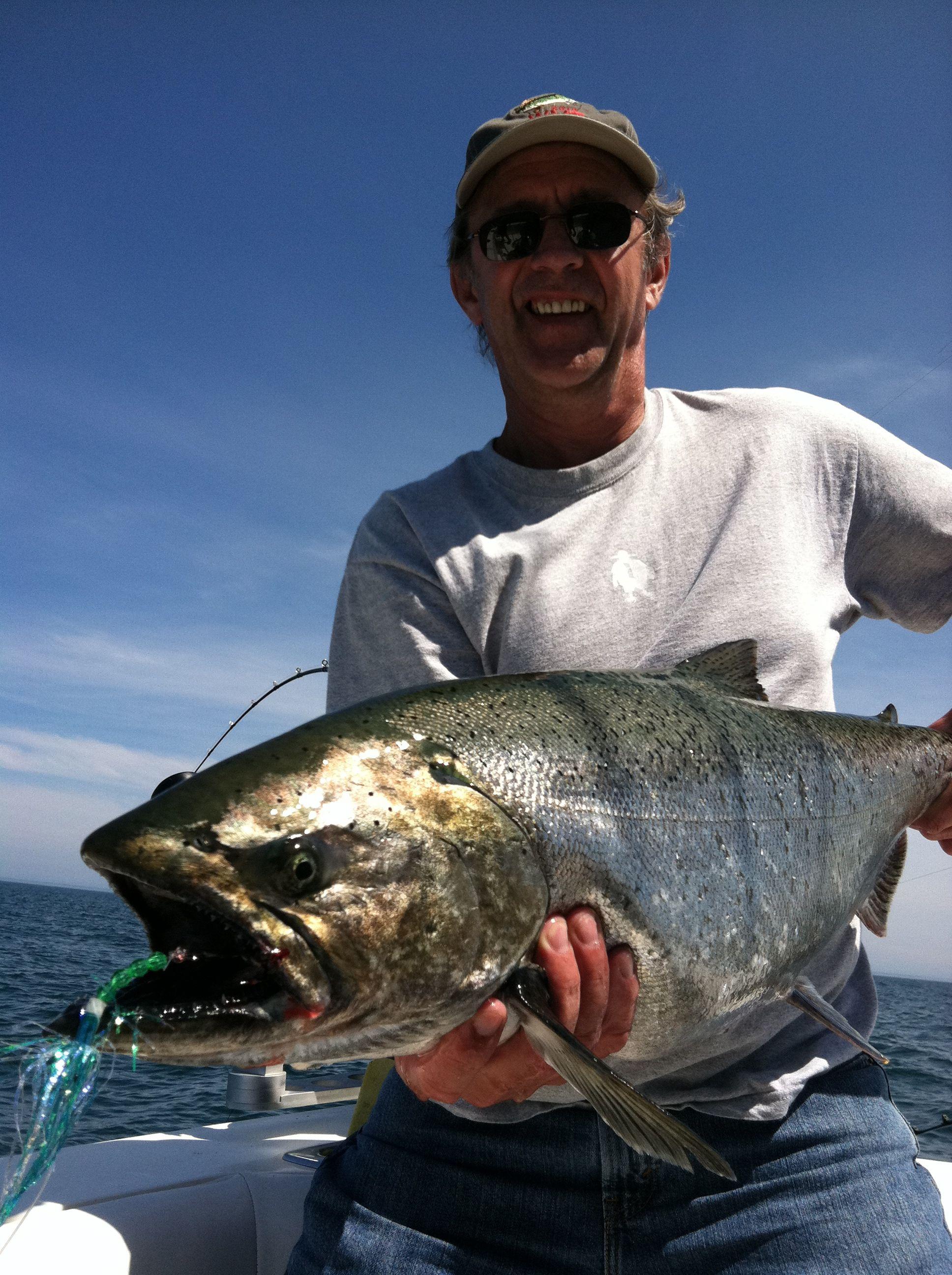 Lake michigan charter fishing wisconsin algoma rv for Lake michigan fishing charters wisconsin