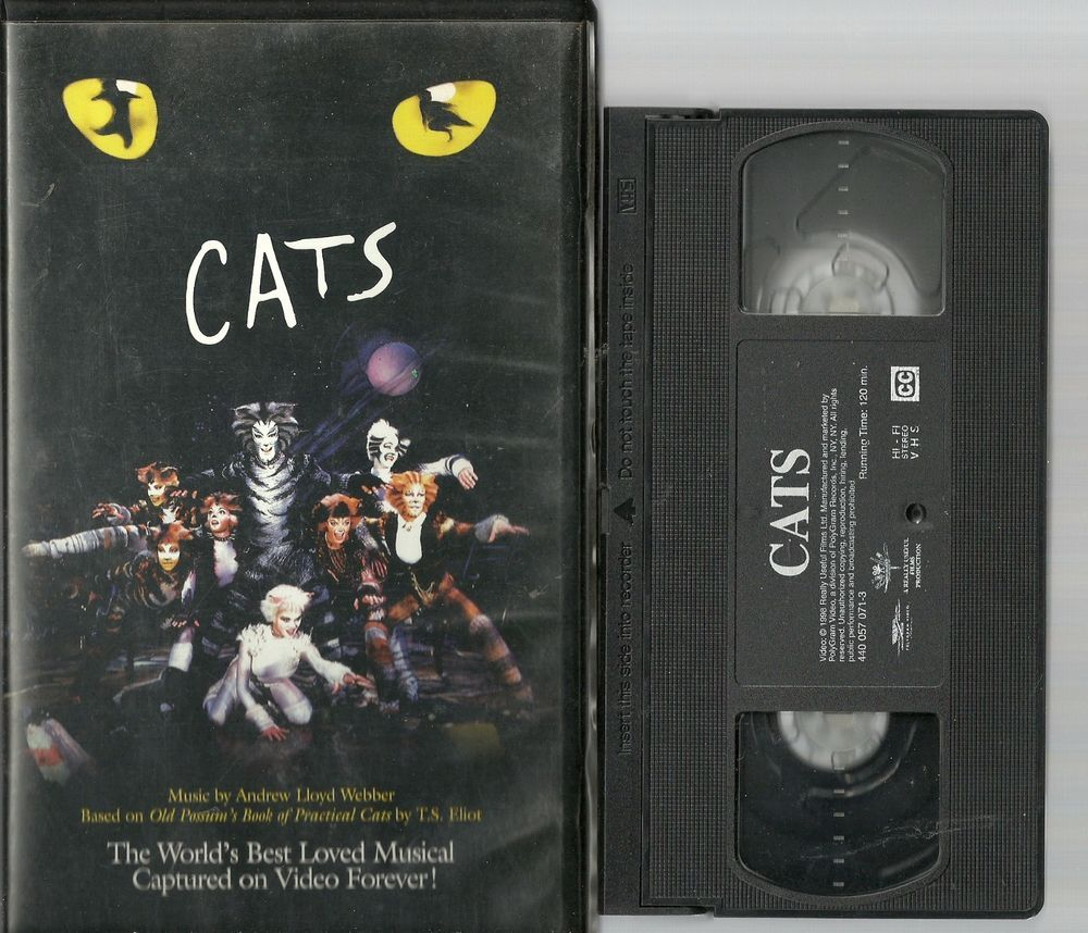 Cats The Musical (VHS, 1998) Clam shell case