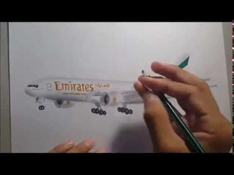 Drawing An Airplane Qatar A380 Youtube Airbus