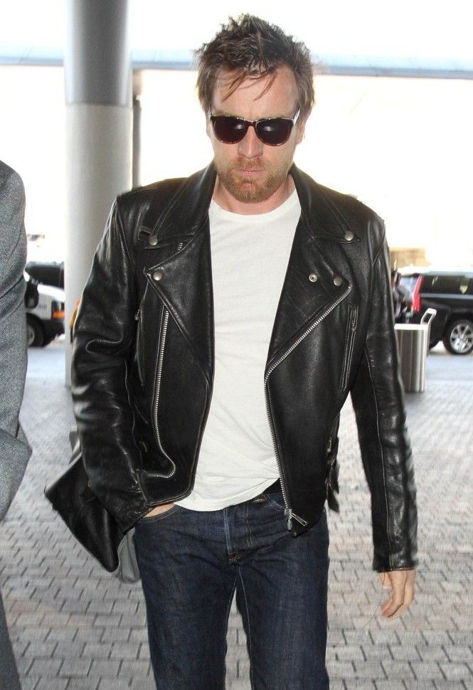 Style Watch: Ewan McGregor Has an Affinity for Black Leather ...