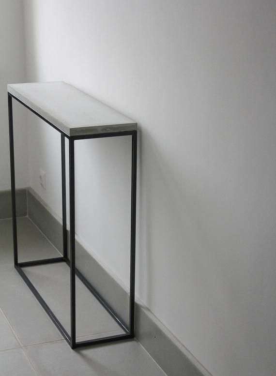 concrete console table narrow console table concrete on small entryway console table decor ideas make a statement with your home s entryway id=67633
